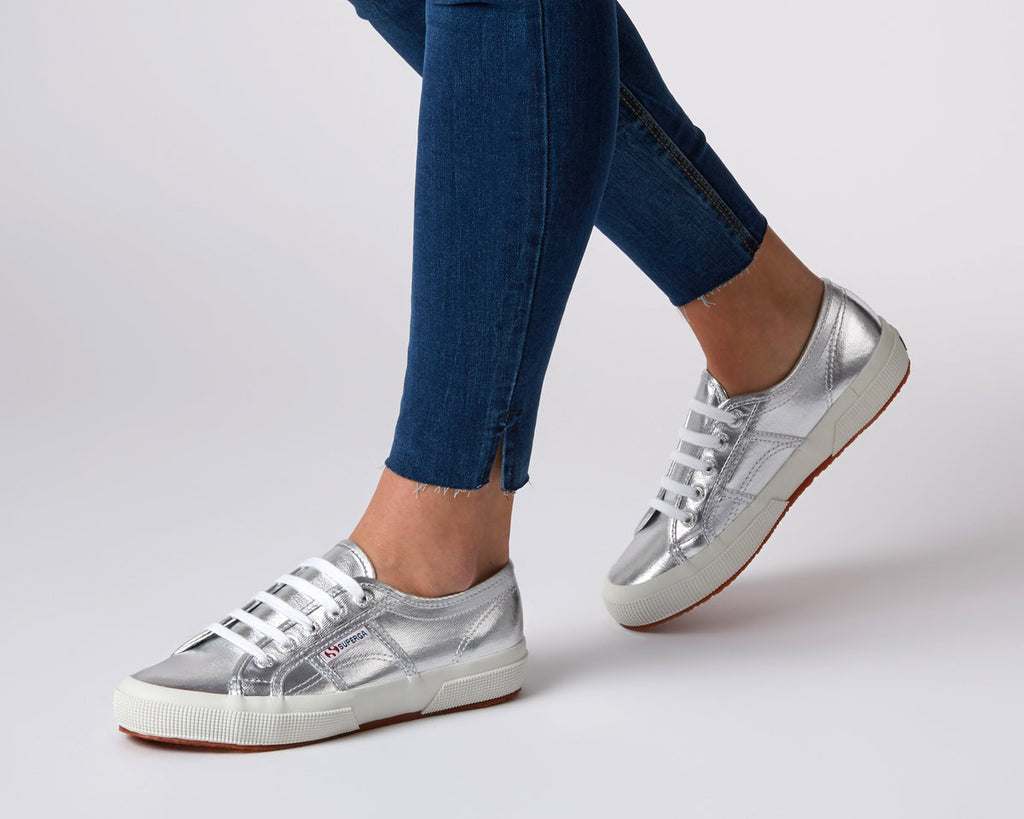 SUPERGA 2750 COTMETU LEATHER GREY SILVER
