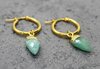 Mara Amazonite Stone Hoops