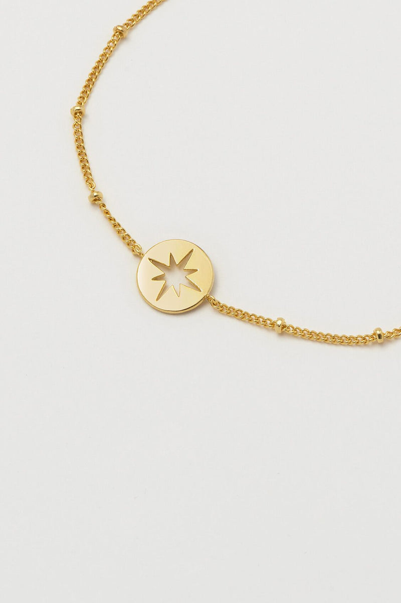 Estella Bartlett Starburst Disc Beaded Chain Bracelet