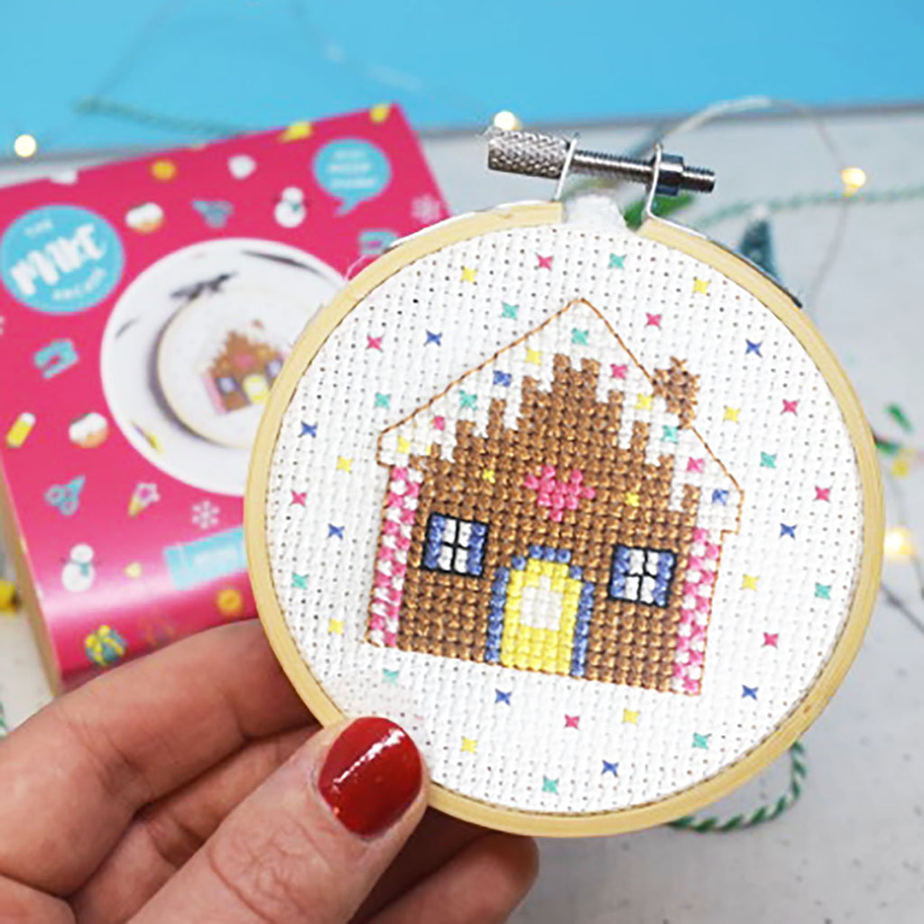 The Make Arcade Gingerbread House Mini Cross Stitch Kit