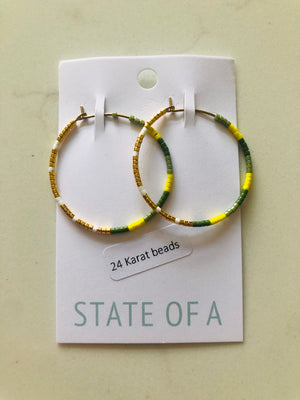 State Of A Beaded Hoops