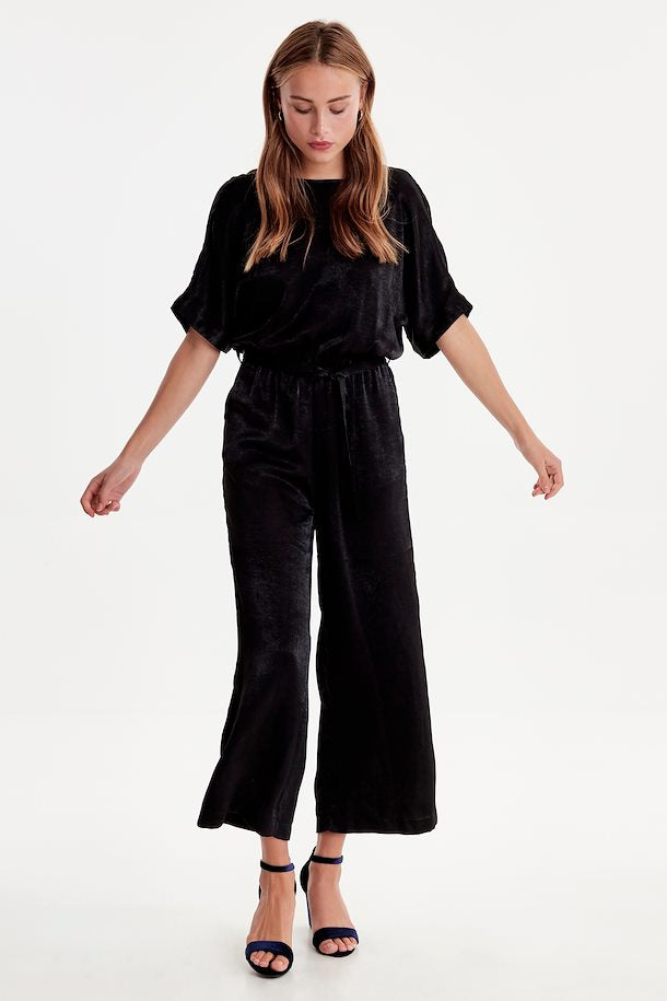 Ichi Isolde Black Jumpsuit
