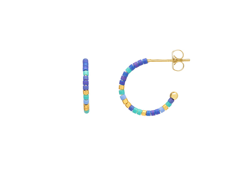 Estella Bartlett Night Sky Beaded Hoops