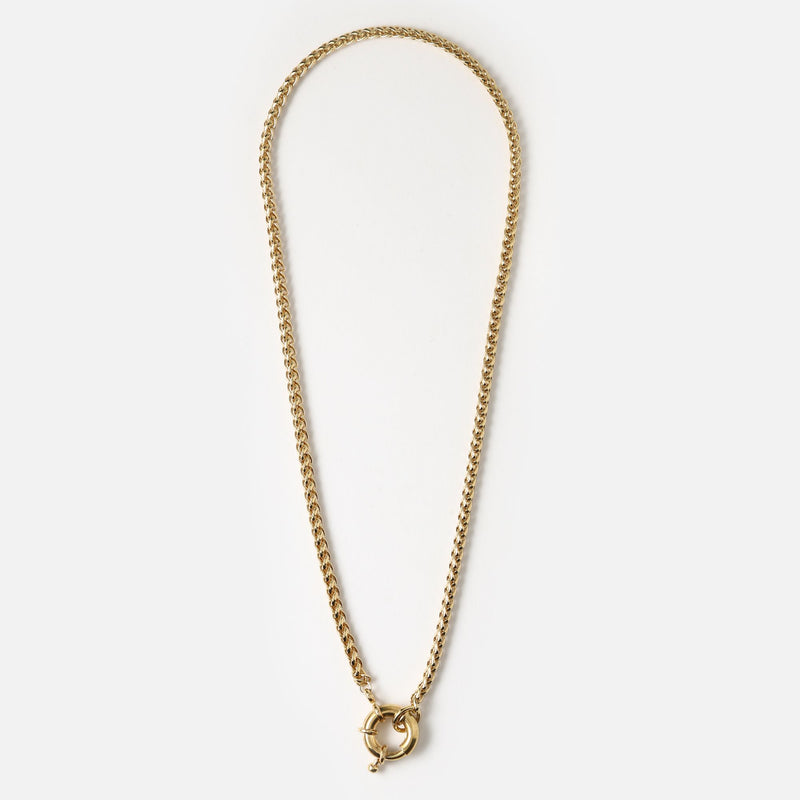 Orelia Chunky Chain Ring Fastening Necklace