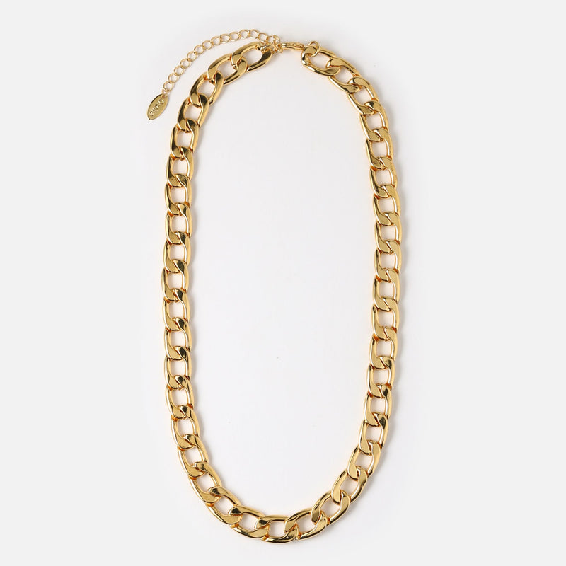 Orelia Chunky Chain Necklace - Gold/Silver
