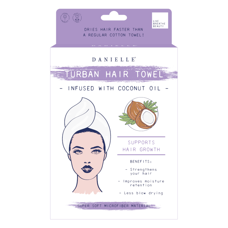 Turban Hair Towel - coconut