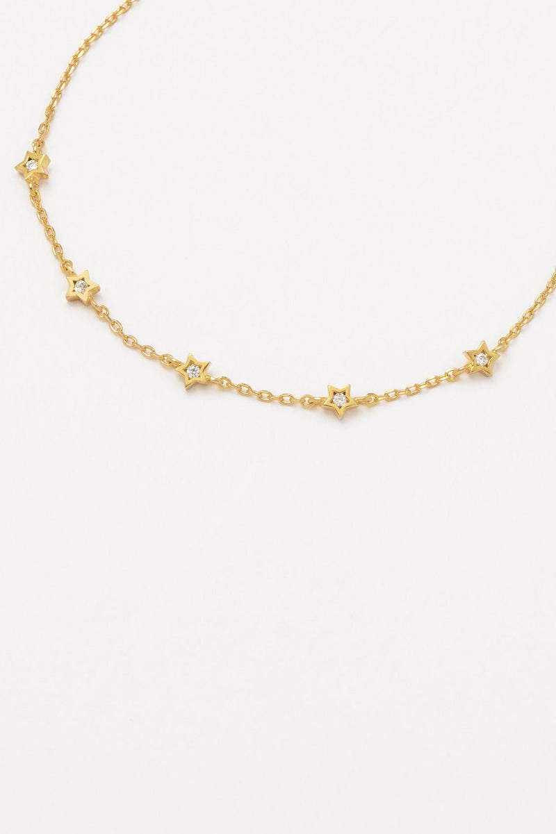 Estella Bartlett Gold Plated CZ Constellation Chain Bracelet
