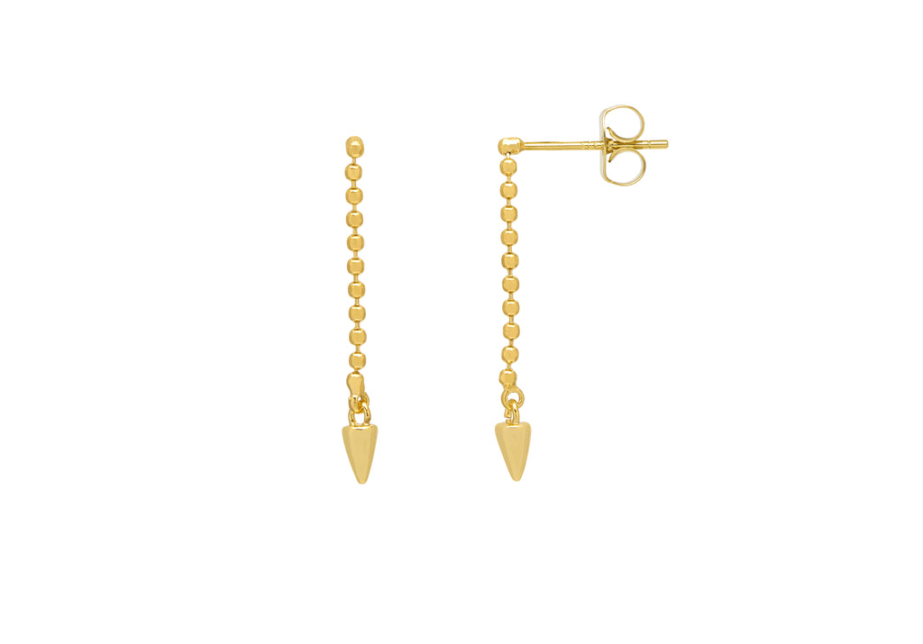 Estella Bartlett Chain Drop Spike Earrings