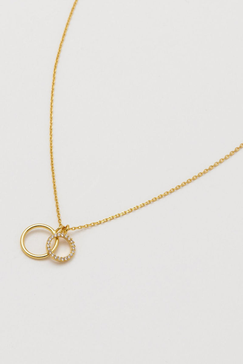 Estella Bartlett Double Circle Charm Necklace