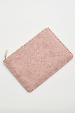 Estella Bartlett Snake Effect Faux Leather Medium Pouch