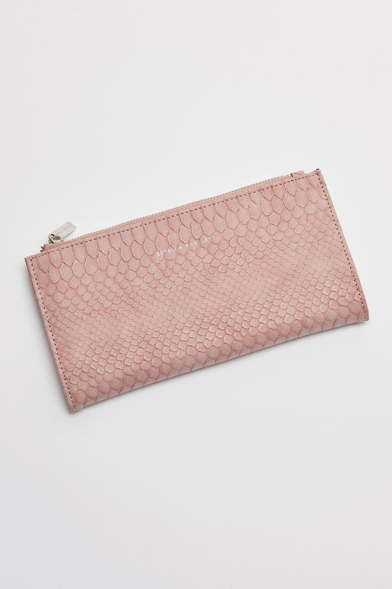Estella Bartlett Faux Leather Snake Effect Envelope Wallet
