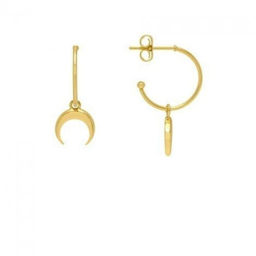 Estella Bartlett Gold Plated Horn Hoop Earrings