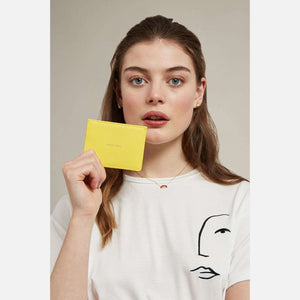 Estella Bartlett 'Positive Vibes' Card Holder in Yellow
