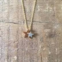 Sixton Brass Star Necklace