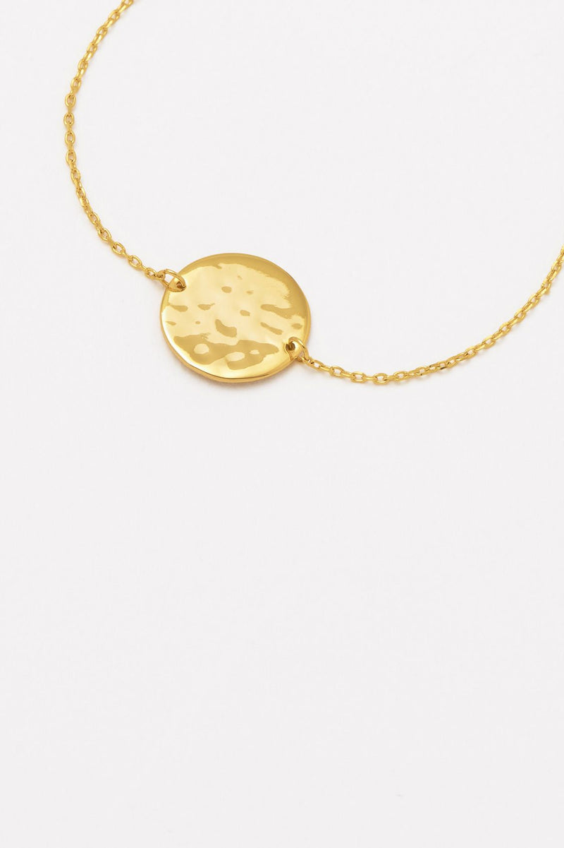 Estella Bartlett Gold Plated Hammered Disc Bracelet