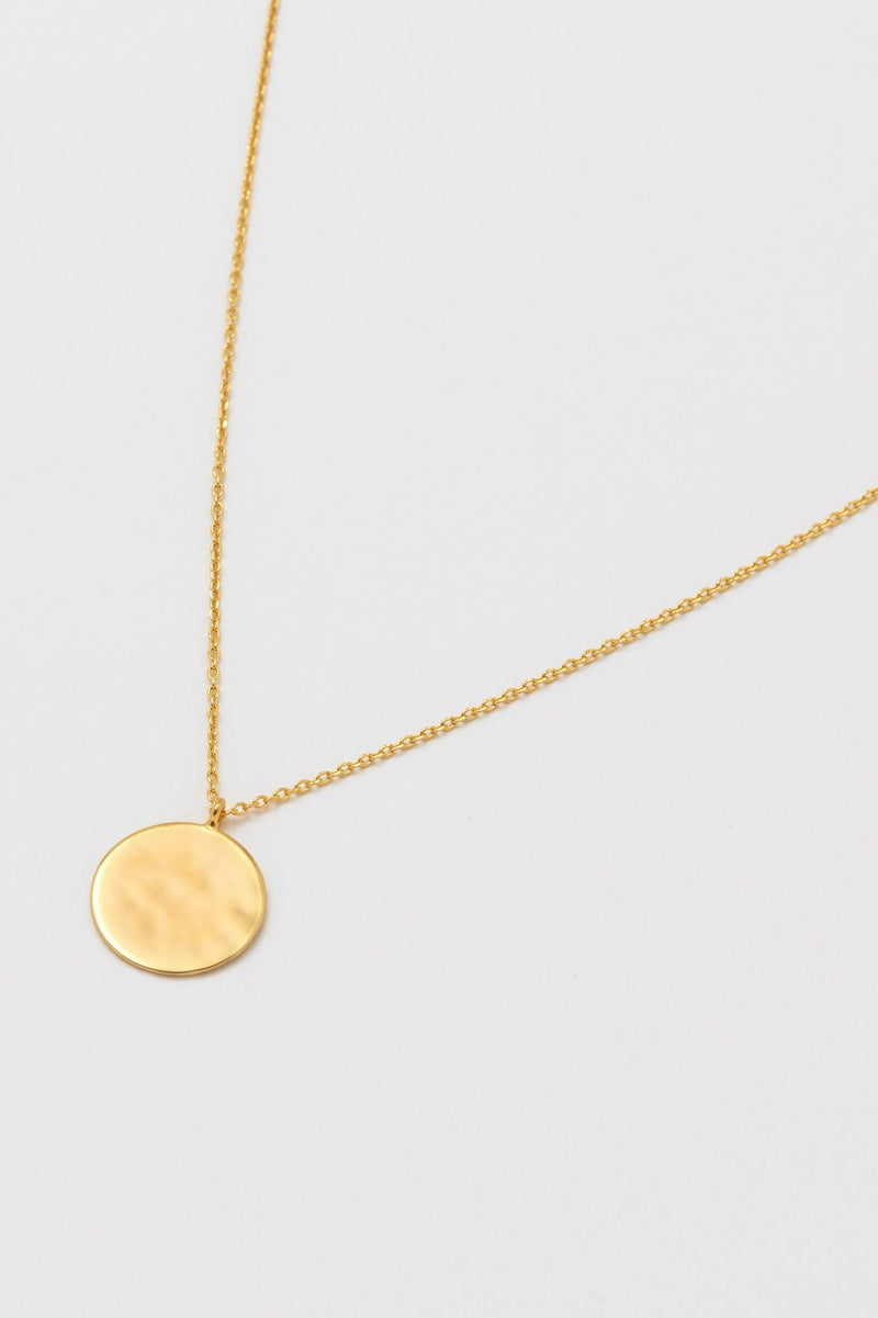 Estella Bartlett Hammered Disc Pendant