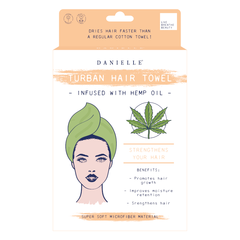 Turban Hair Towel - Hemp oil