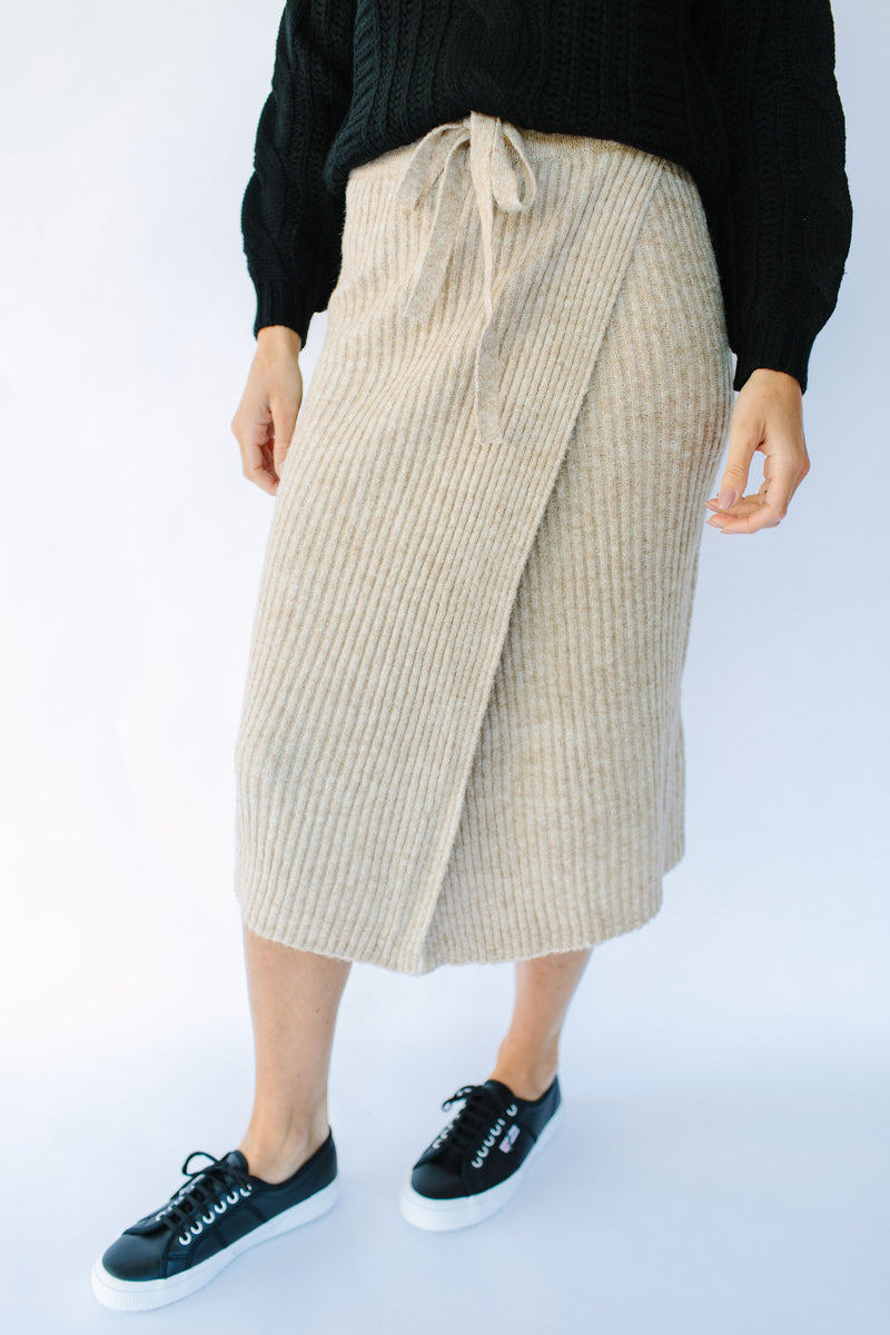Pieces Knitted Midi Skirt