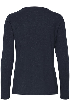 Ichi Rebel Long Sleeve TShirt - Navy