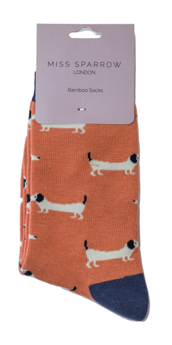 Miss Sparrow Bamboo Sausage Dogs Socks