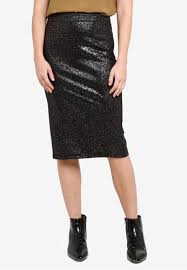 Ichi Kate Shimmer Pencil Skirt