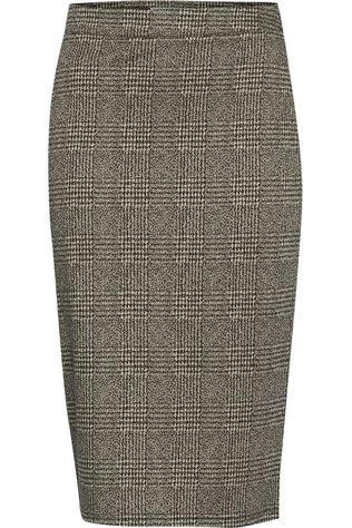 Ichi Kate Grid Stretch Pencil Skirt