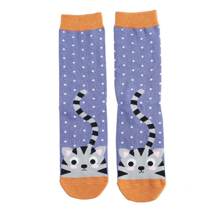 Miss Sparrow Bamboo Kitty Socks