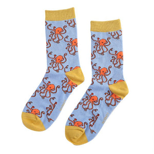 Miss Sparrow Octopus Socks Blue