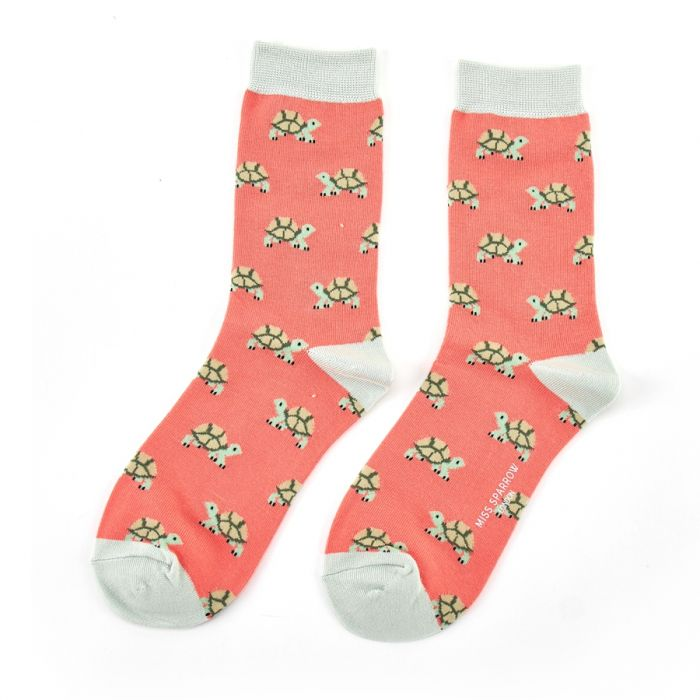 Miss Sparrow Bamboo Turtles Socks