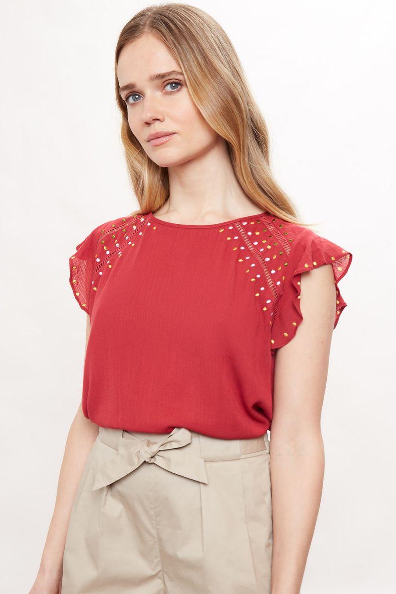 Louche Yamine Embroidered Top