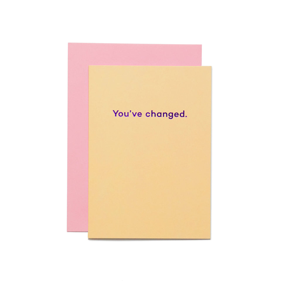 You've Changed Mean Mail card