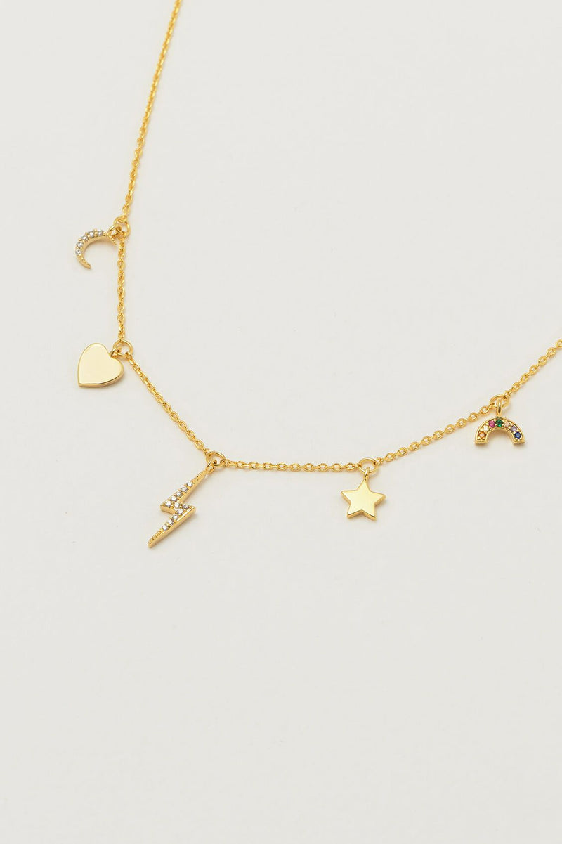 Estella Bartlett Gold Plated Charm Necklace