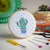 The Make Arcade Cute Cactus Mini Cross Stitch Kit