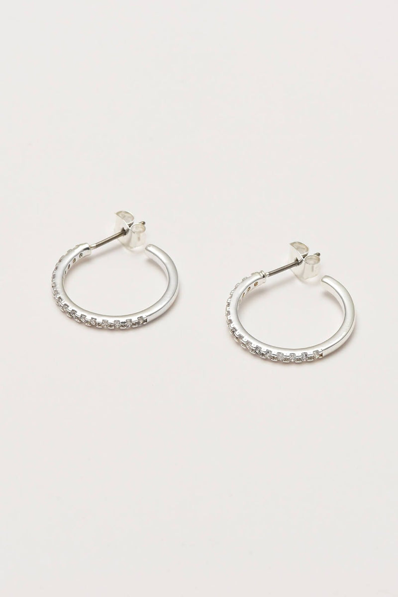 Estella Bartlett Pave Set Large Hoop Earrings