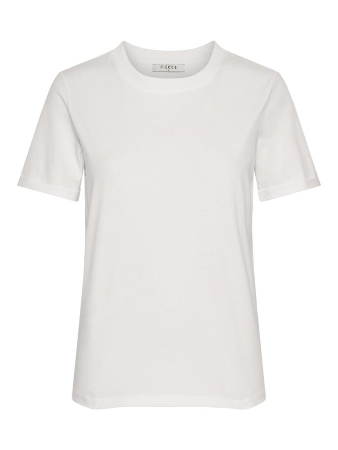Pieces White T Shirt