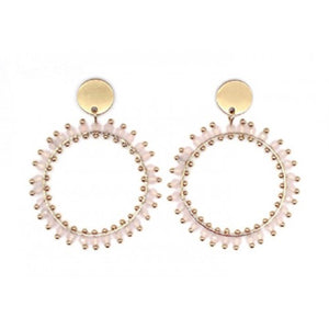 Double Round Drop Earrings