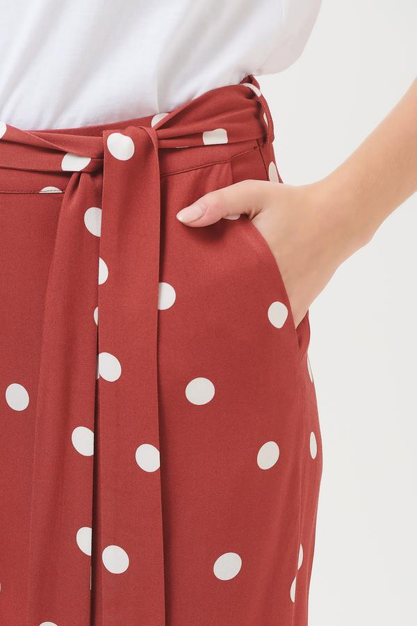 Sugarhill Brighton Ottillie Polka Cropped Wide Leg Trousers