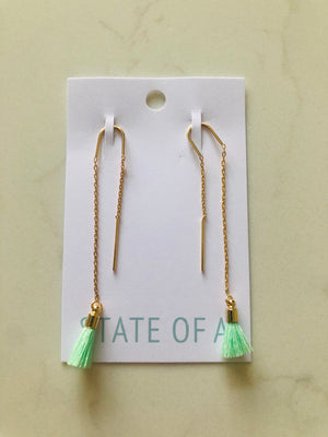 State of A Pull Through Earrings with Tassels
