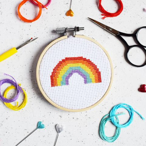 The Make Arcade - Over the rainbow Cross Stitch Kit