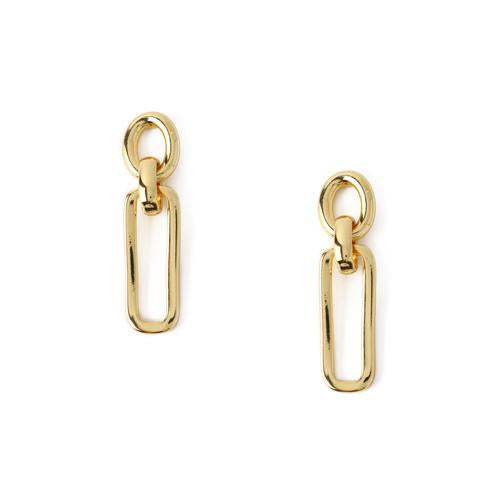 Orelia Rectangular Link Interlocking Earrings