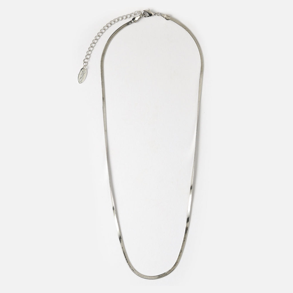 Orelia Flat Snake Chain Necklace