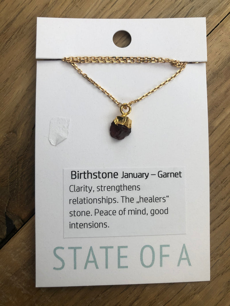 State of A Birthstone Necklace