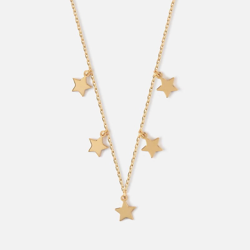 Orelia Five Stars Necklace - Gold/Silver