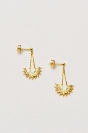 Estella Bartlett Gold Plated Sunburst Drop Earrings