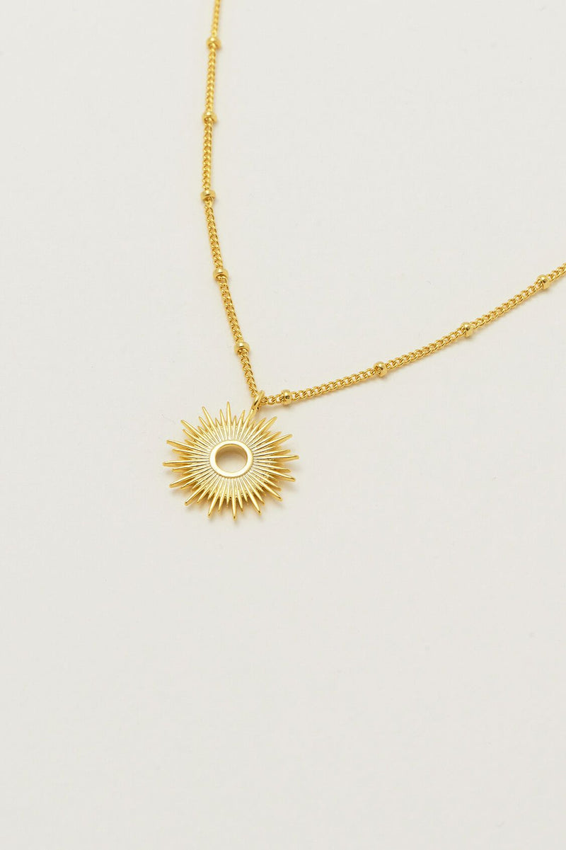 Estella Bartlett Gold Plated Sunburst Necklace