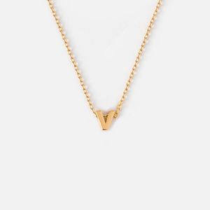 Orelia Initial Necklace - Gold