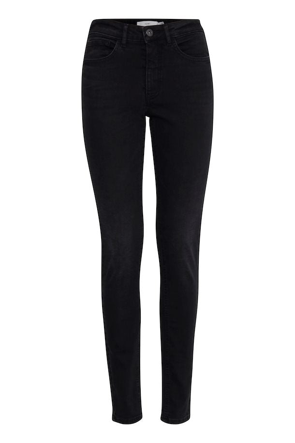 Ichi Gulip Washed Black Crop Jeans