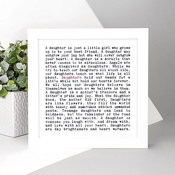 Wise Words Print - Daughters