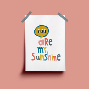 Seb & Charlie 'You Are My Sunshine' print