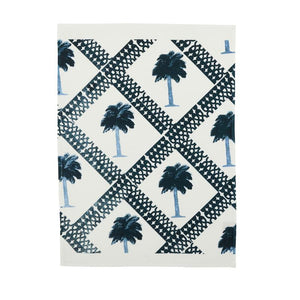 Bonnie & Neil Tea Towel - Tiny Palms Indigo